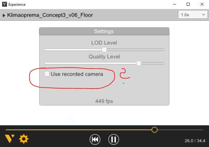 Checkbox CameraAnimator